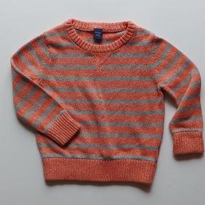 Baby Gap striped orange + grey sweater